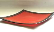 Fused and slumped glass (380mm sq)