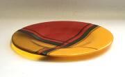 Fused and slumped glass (270mm diam)
