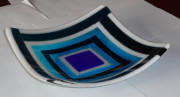 fused glass (250mm square X 60mmH)