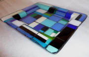 fused glass with paint (255mmL x 220mmW x 20mmH)