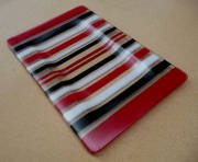 fused glass (340mm L x 230mm W x 10mm H)