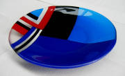 fused glass (250mm diameter)