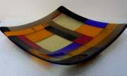 fused and slumped glass (300mm sq)