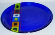 fused and slumped glass (280mm diam)