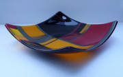fused and slumped glass (250mm squared)