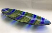 Fused and slumped glass (380mmL x 150mmW)