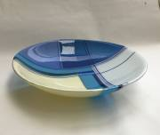 Fused and slumped glass (320mm diam.)