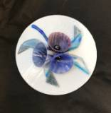 Fused and slumped glass (250mm diameter)