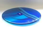 Fused and slumped glass (335mm diameter )
